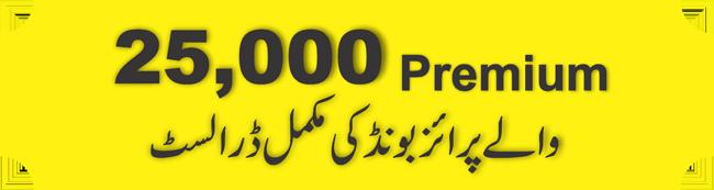 25000 Rupees Prize Bond List 2021